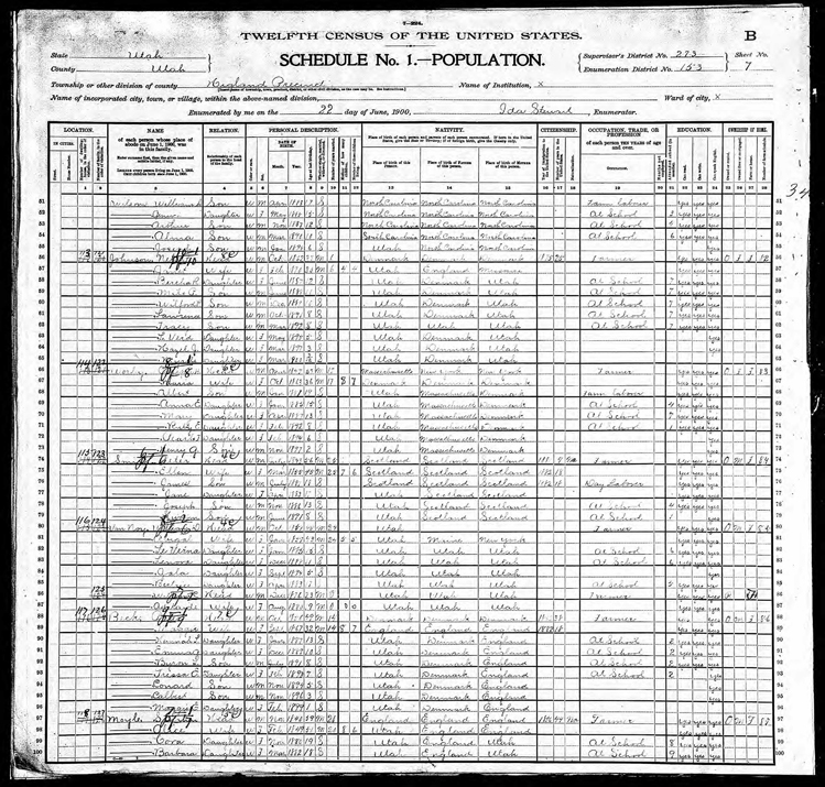 Highland 1900 U.S. Census page 3