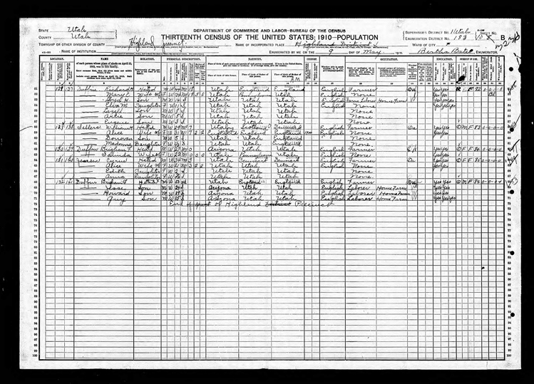 Highland 1910 U.S. Census page 4