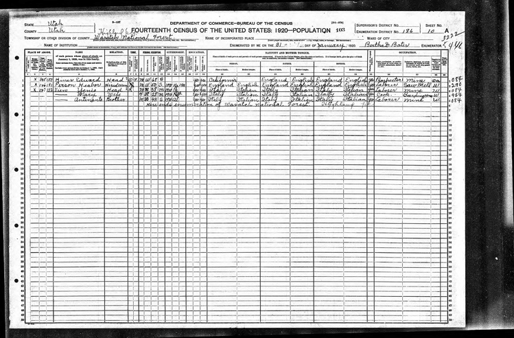 Highland 1920 U.S. Census page 6