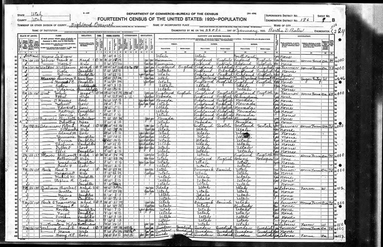 Highland 1920 U.S. Census page 4