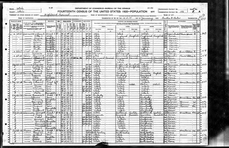 Highland 1920 U.S. Census page 3