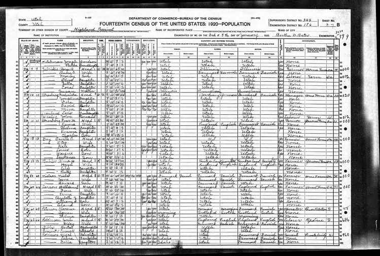 Highland 1920 U.S. Census page 2