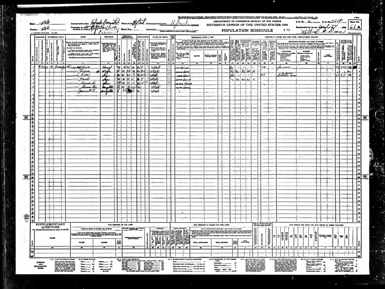 Highland 1940 U.S. Census page 9