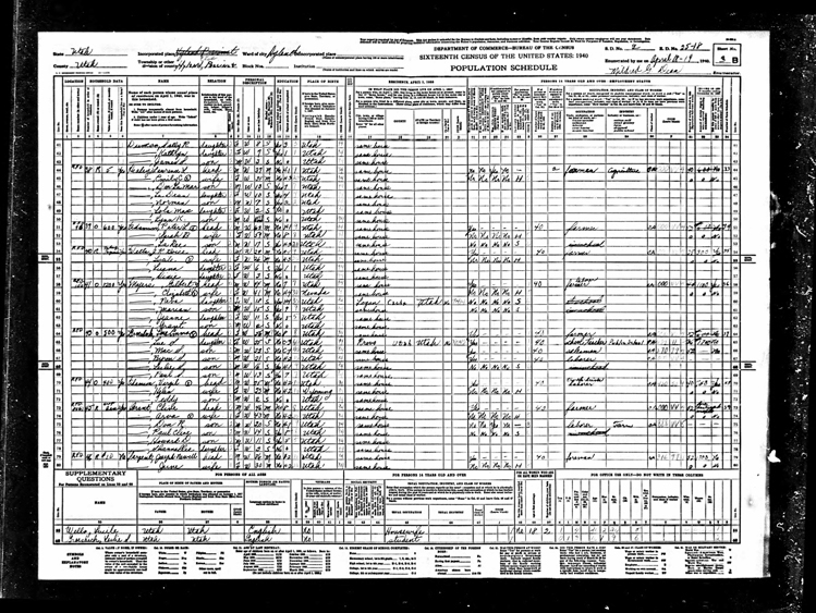 Highland 1940 U.S. Census page 6