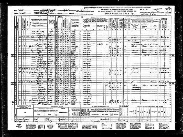 Highland 1940 U.S. Census page 5