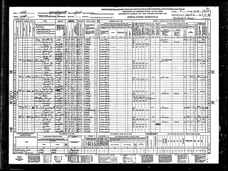 Highland 1940 U.S. Census page 4