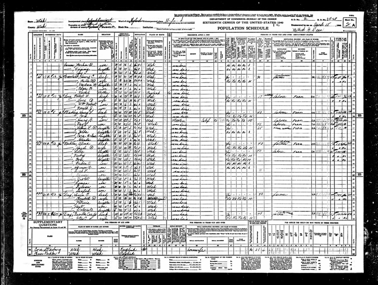 Highland 1940 U.S. Census page 3
