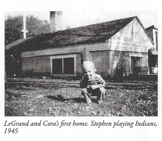 Stephen playing Indians at LeGrand and Cora's first home