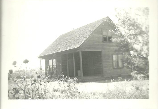 Black and white image of a house