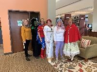 Librarians in the Halloween costumes 2019