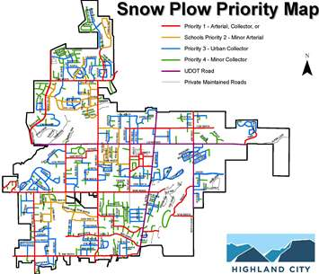 Snow Plow Priority Map