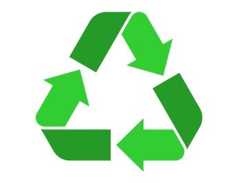 Recycling logo with three arrrows forming a triangle