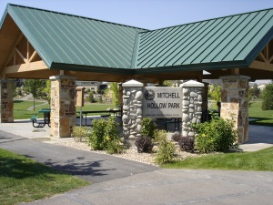Mitchell Hollow Park entrance